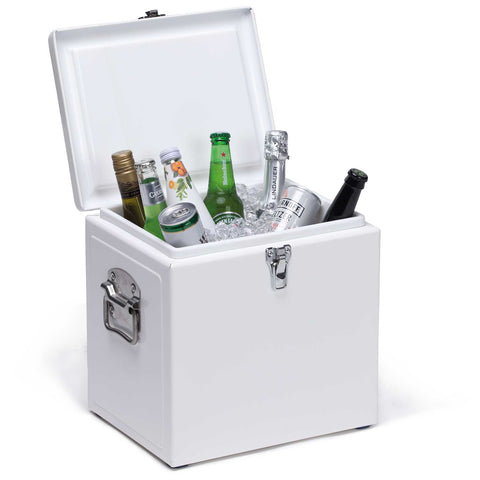 Vintage Cooler Box, Colour: White