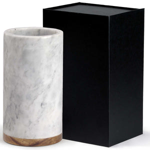 Vino Marble Cooler, Colour: White (with grey veining)