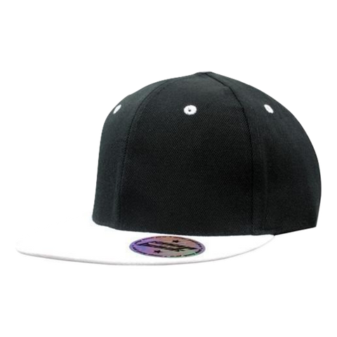 Premium American Twill with Snap Back Pro Styling, Colours: Black / White