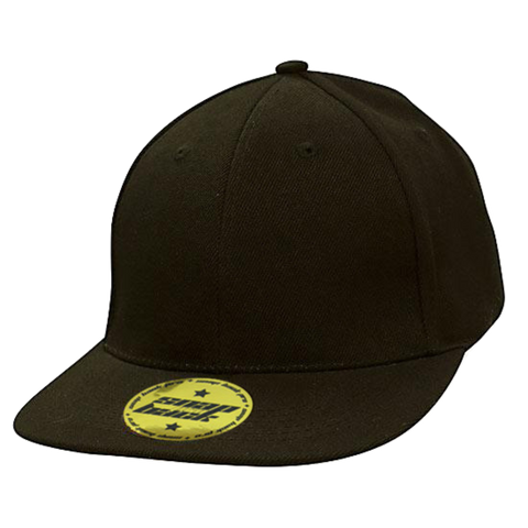 Premium American Twill with Snap Back Pro Styling Fit, Colour: Black