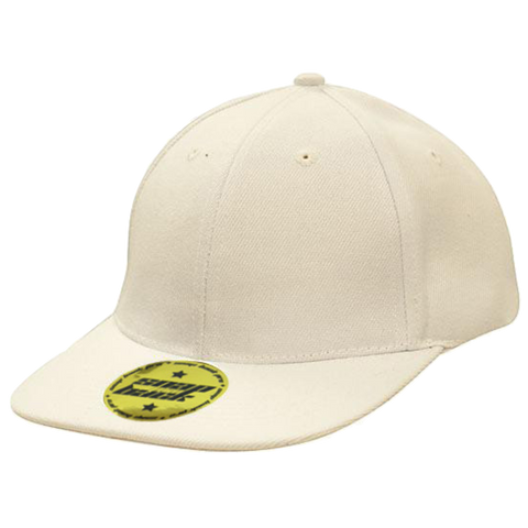 Premium American Twill with Snap Back Pro Styling Fit, Colour: White