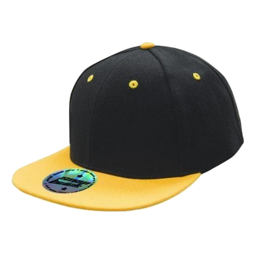 Premium American Twill with Snap Back Pro Styling - Two Tone, Colours: Black / Gold