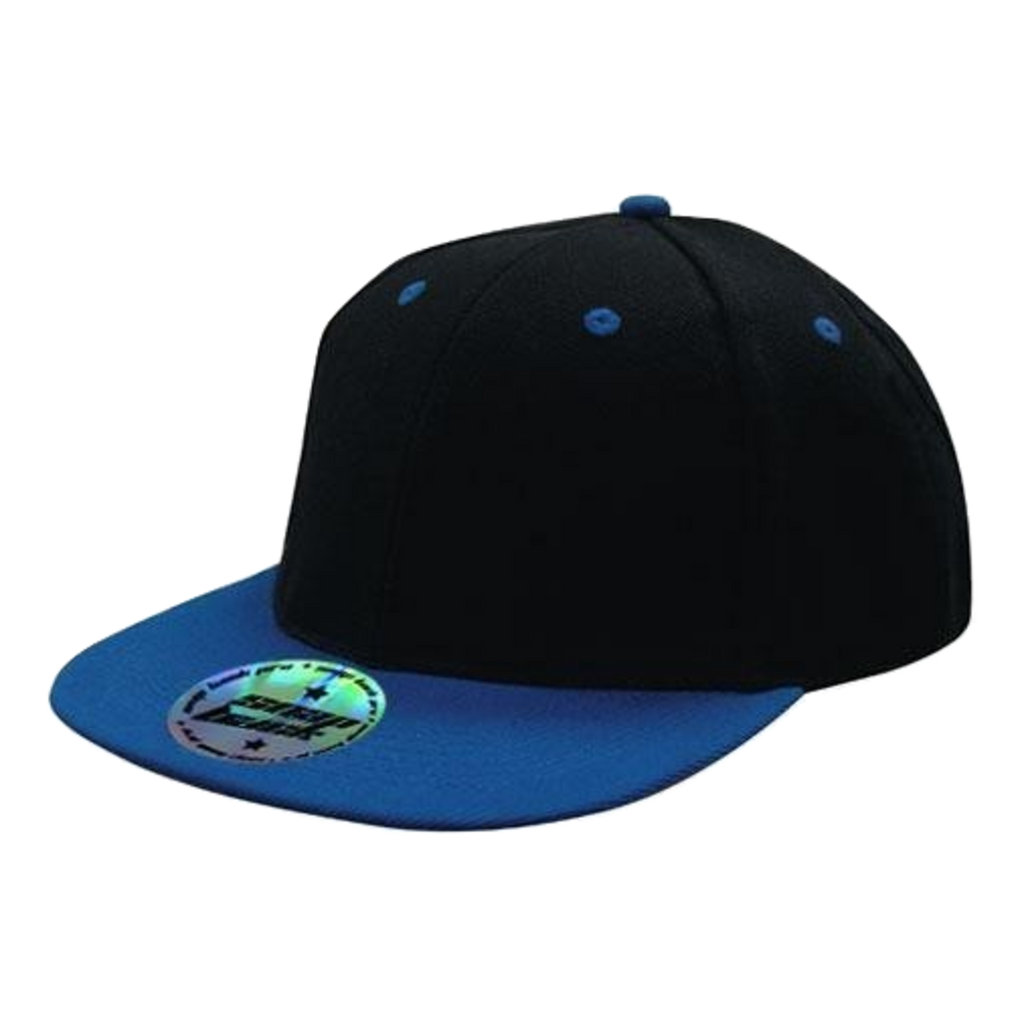 Premium American Twill with Snap Back Pro Styling - Two Tone, Colours: Black / Royal