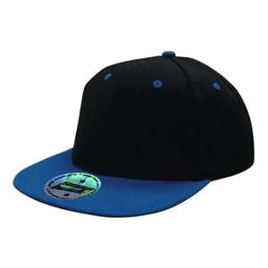 Premium American Twill with Snap Back Pro Styling - Two Tone - Colours Black / Royal