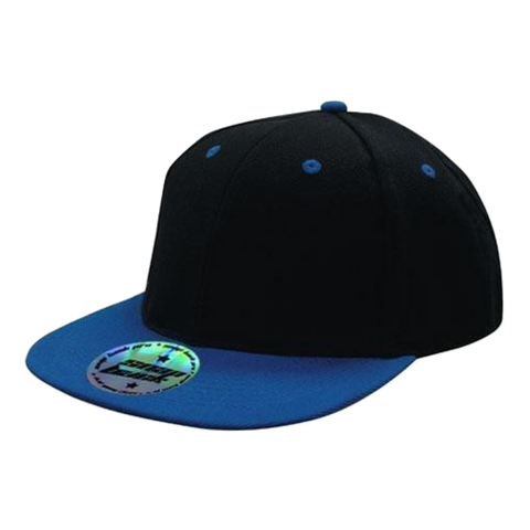 Image of Premium American Twill with Snap Back Pro Styling - Two Tone, Colours: Black / Royal