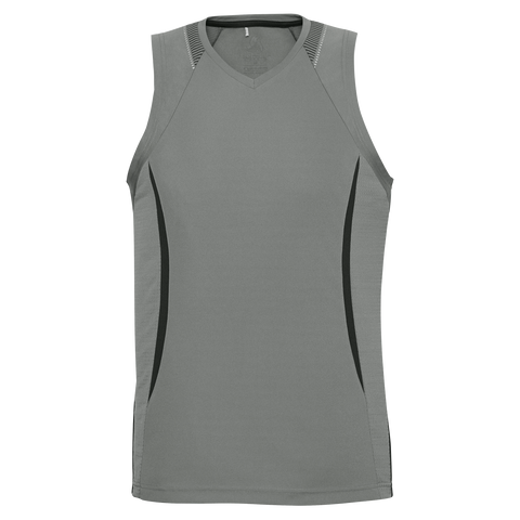 Image of Mens Razor Singlet - Colours Ash / Black