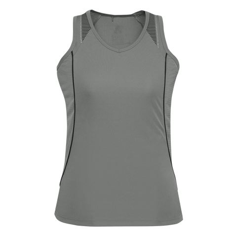 Womens Razor Singlet - Colours Ash / Black