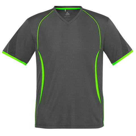 Mens Razor Tee - Colours Grey / F Lime
