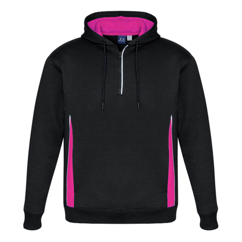 Adults Renegade Hoodie, Colours: Black / Magenta / Silver