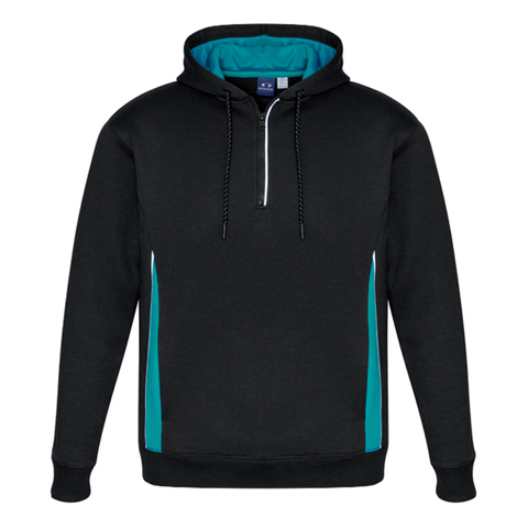 Adults Renegade Hoodie, Colours: Black / Teal / Silver