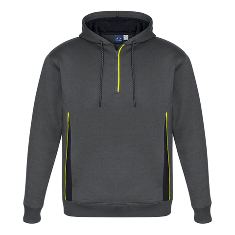 Image of Adults Renegade Hoodie, Colours: Grey / Black / Fl Yellow