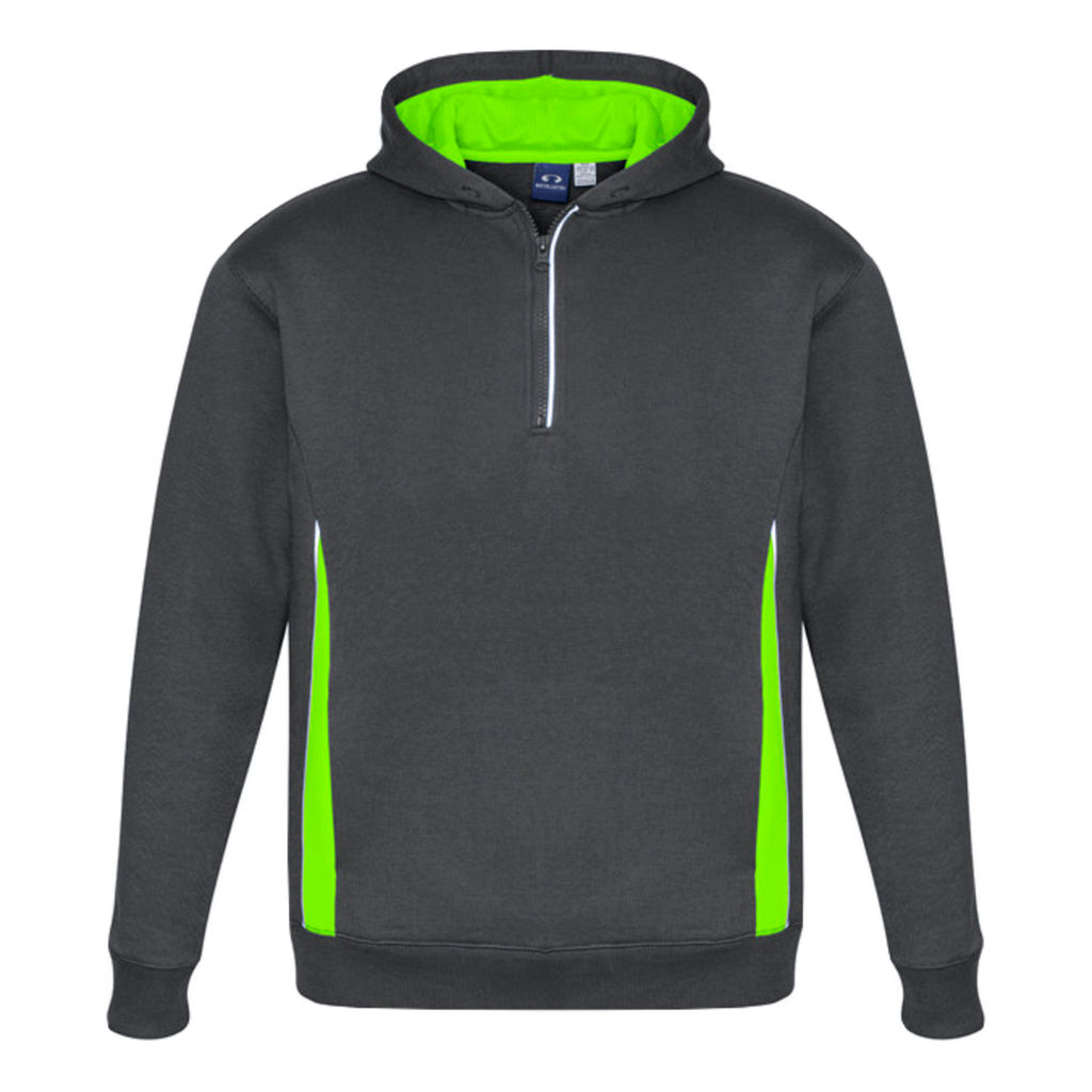Adults Renegade Hoodie - Colours Grey / Fl Lime / Silver