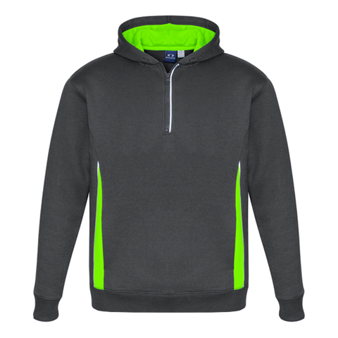 Adults Renegade Hoodie, Colours: Grey / Fl Lime / Silver