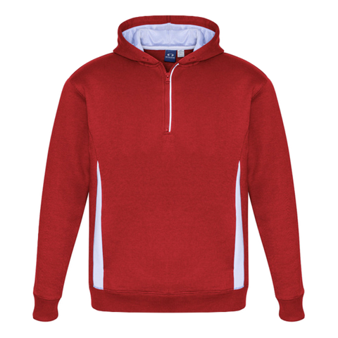 Adults Renegade Hoodie, Colours: Red / White / Silver