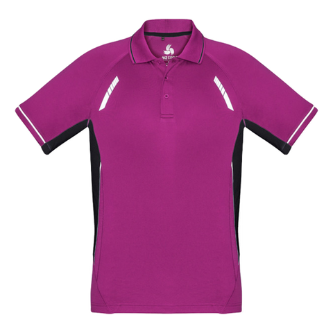 Kids Renegade Polo - Colours Magenta / Black / Silver
