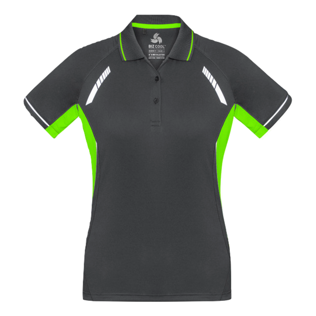 Womens Renegade Polo, Colours: Grey / Fl Lime / Silver