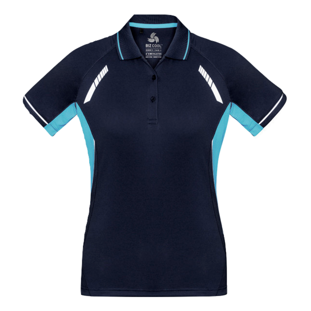 Womens Renegade Polo - Colours Navy / Sky / Silver