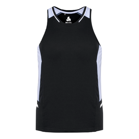 Mens Renegade Singlet - Colours Black / White / Silver