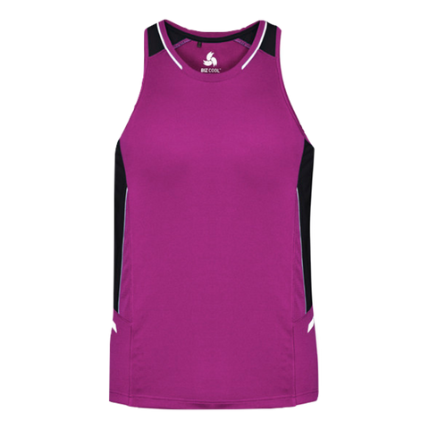 Mens Renegade Singlet - Colours Magenta / Black / Silver