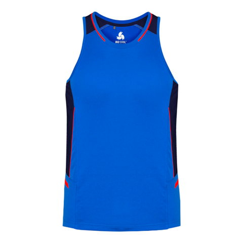 Mens Renegade Singlet - Colours Royal / Navy / Fl Orange
