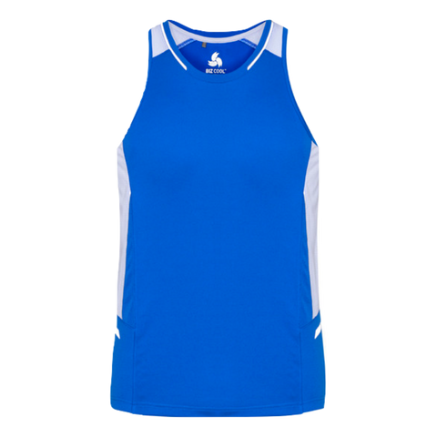Mens Renegade Singlet - Colours Royal / White / Silver