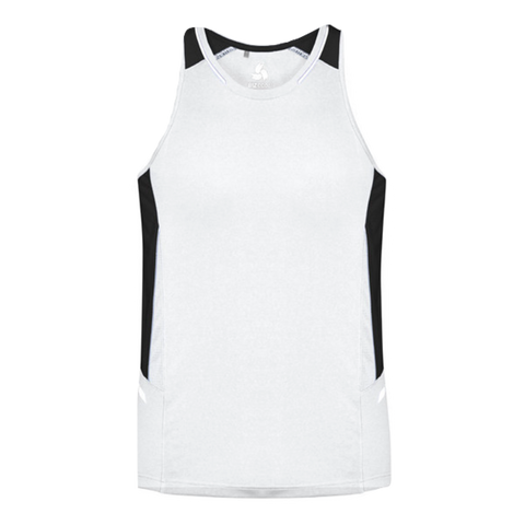 Image of Mens Renegade Singlet, Colours: White / Black / Silver