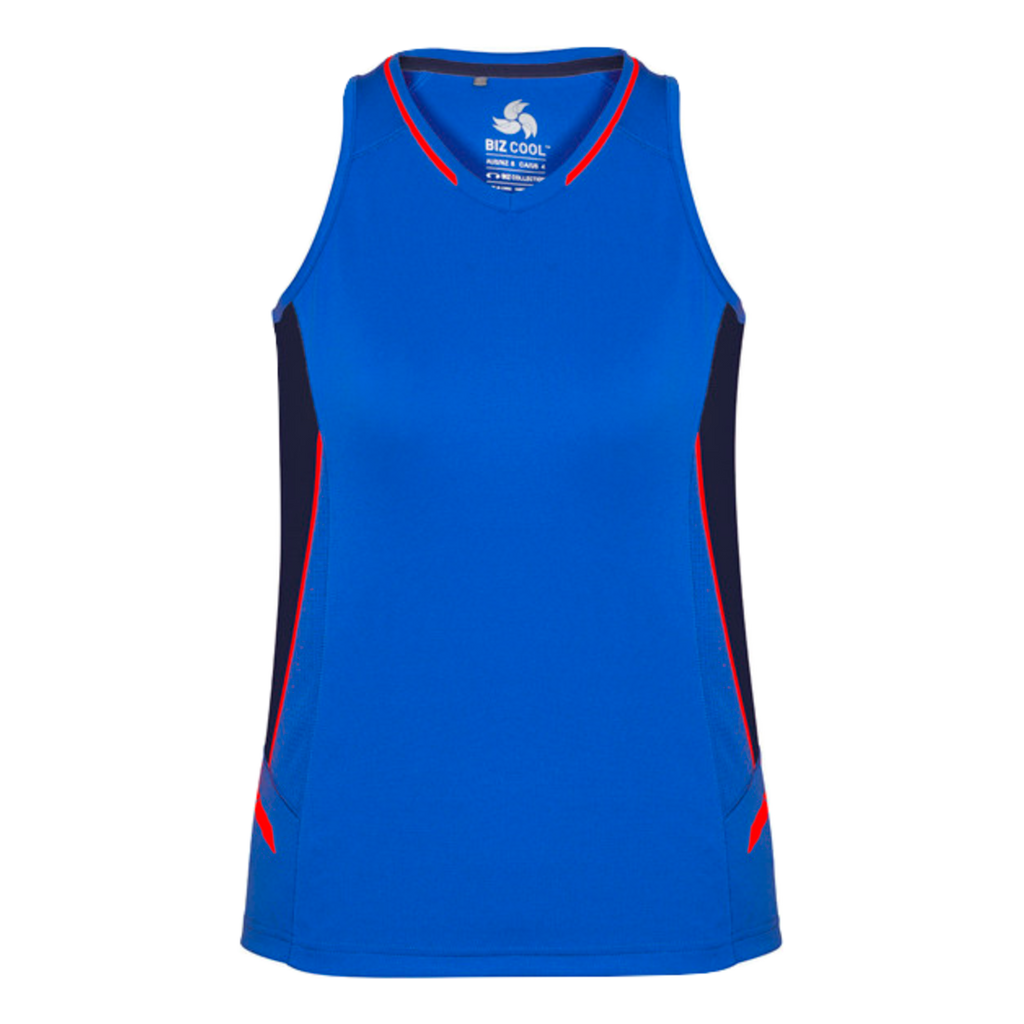 Womens Renegade Singlet - Colours Royal / Navy / Fl Orange