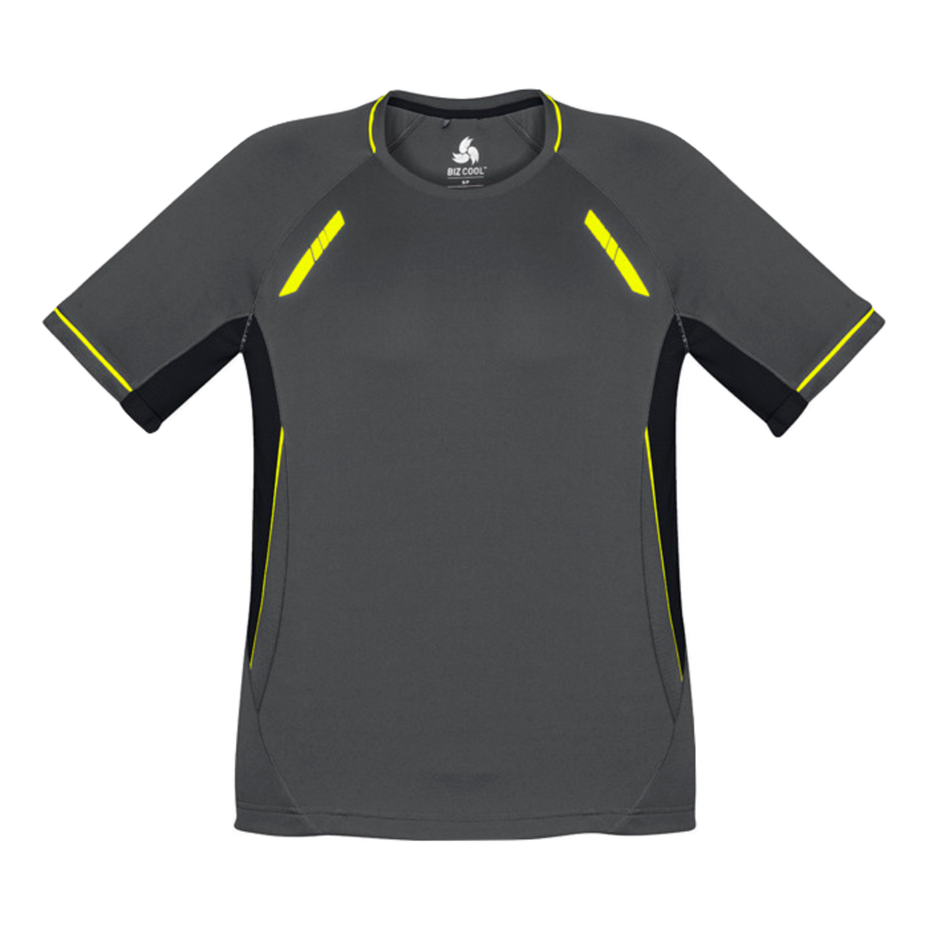 Mens Renegade Tee - Colours Grey / Black / Fl Yellow