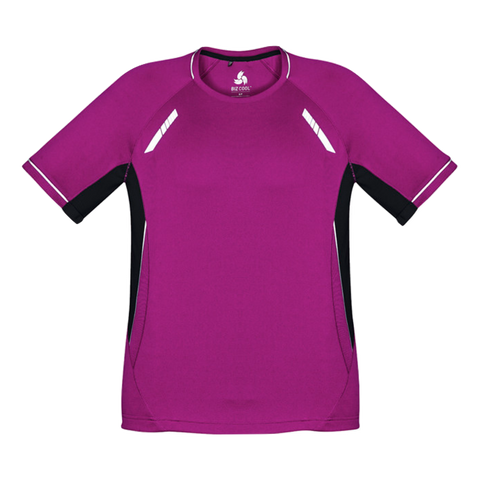 Mens Renegade Tee, Colours: Magenta / Black / Silver