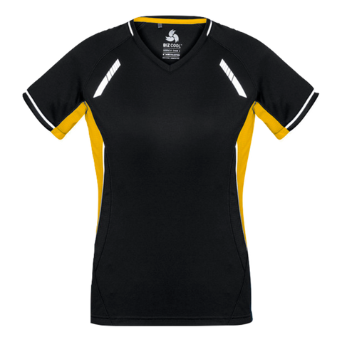 Womens Renegade Tee, Colours: Black / Gold / Silver