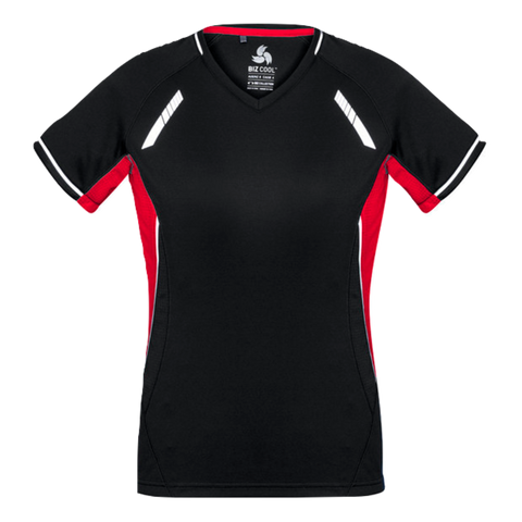 Image of Womens Renegade Tee - Colours Black / Red / Silver
