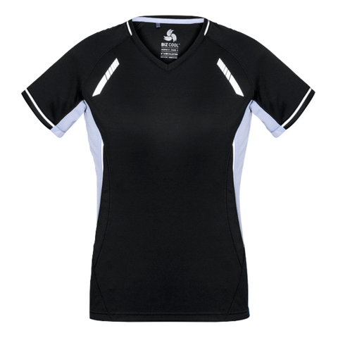 Image of Womens Renegade Tee, Colours: Black / White / Silver