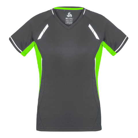 Womens Renegade Tee, Colours: Grey / Fl Lime / Silver