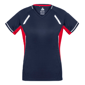 Womens Renegade Tee - Colours Navy / Red / Silver
