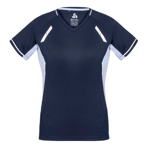 Womens Renegade Tee, Colours: Navy / White / Silver