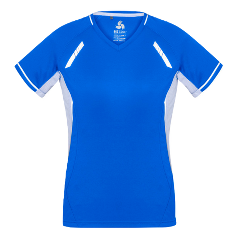 Womens Renegade Tee, Colours: Royal / White / Silver