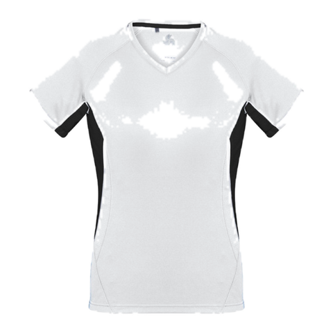 Image of Womens Renegade Tee, Colours: White / Black / Silver