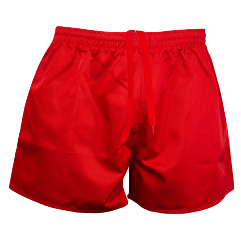 Kids Rugby Short - AP, Colour: Red