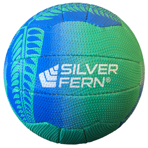 Image of Silver Fern Falcon Netball, Colours: Green with Blue