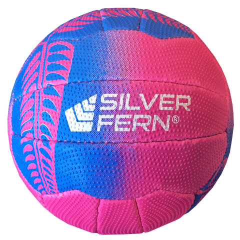 Image of Silver Fern Falcon Netball, Colours: Pink with Blue