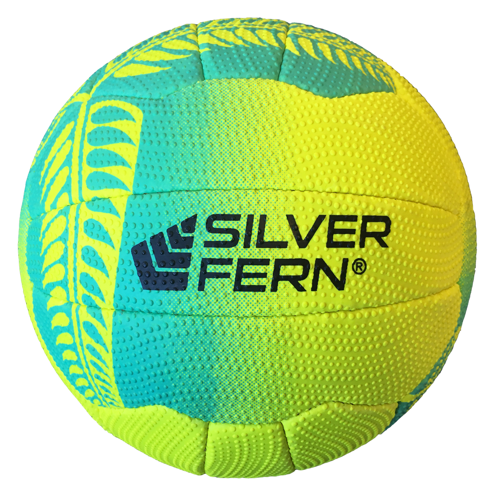 Silver Fern Falcon Netball, Colours: Yellow with Turquoise