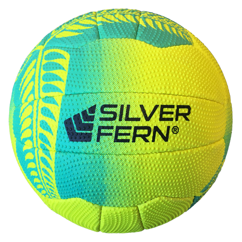 Image of Silver Fern Falcon Netball - Colours Yellow with Turquoise