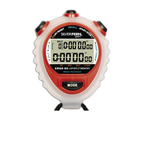 Image of Silver Fern Stopwatch - 60 Lap Memory