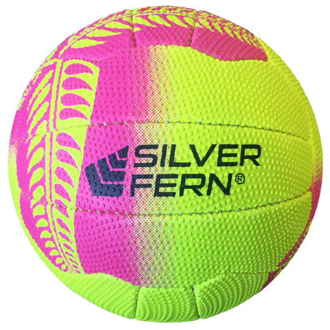 Silver Fern Tui Netball - Colours Yellow with Pink