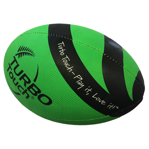 Silver Fern Turbo Touch Ball, Size: 35, Colours: Green / Black