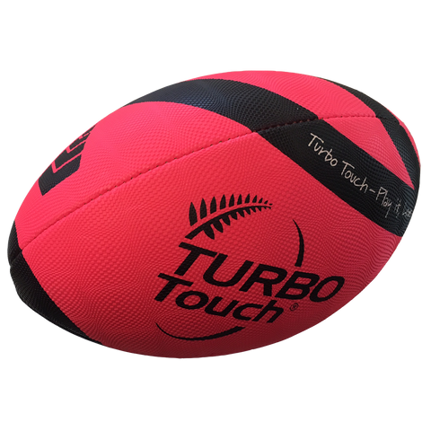 Silver Fern Turbo Touch Ball, Size: 35, Colours: Pink / Black