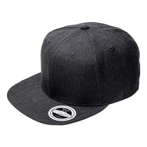 Image of Adults Snap Back 6 - Colours Charcoal Melange