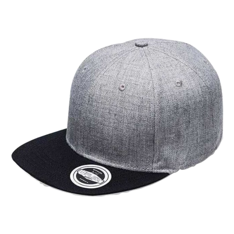 Image of Adults Snap Back 6, Colours: Grey Mel / Black