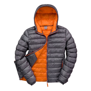 Mens Snowbird Hooded Jacket, Colours: Charcoal / Orange