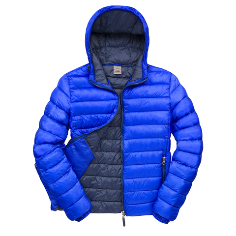 Image of Mens Snowbird Hooded Jacket - Colours Royal Navy